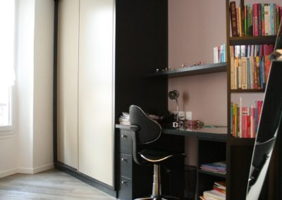 projet-archi-appt-paris-Ternes-photo chambre fille ensemble mobilier