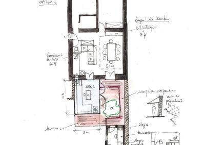 Extension-architecture-veranda-projet esquisse1-boulogne