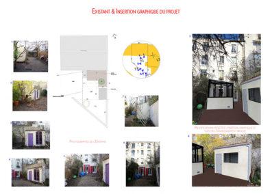 Extension-architecture-veranda-projet existant et insertion 3D-boulogne