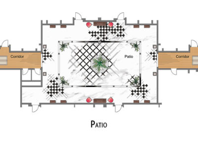 hotel-design-patio-floor plan-luxury