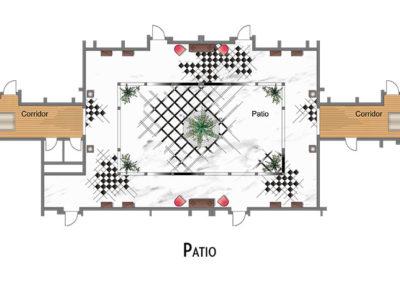 hotel-design-patio-floor plan-luxury