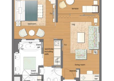 hotel-design-room floor plan-chambre-luxury